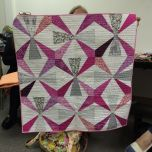 Show and Tell, May 2016 %0AHow pretty is this! #modernquilting #quilt #quilting by siliconvalleymqg