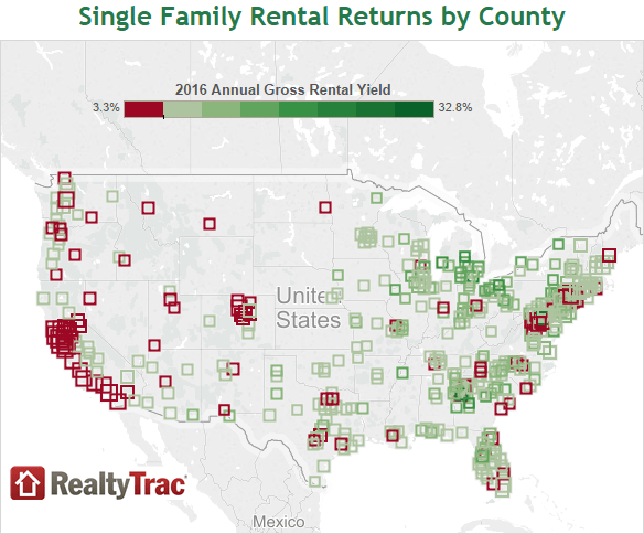 San Francisco Bay Area Counties Top 2016 Worst Rental Yields in US
