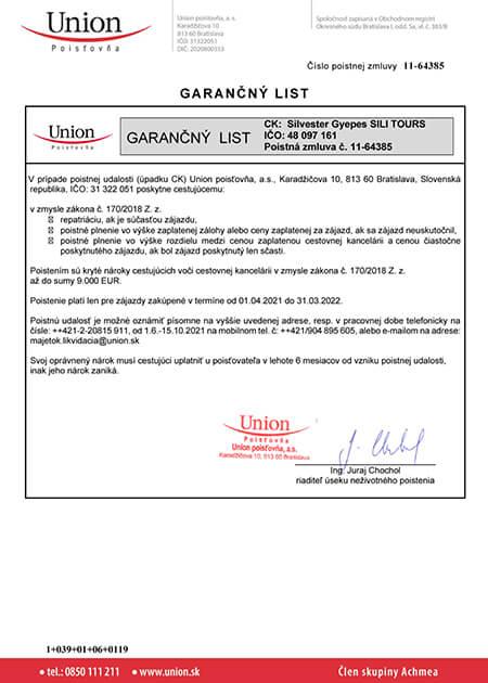 sili-tours-garancny-list-2021