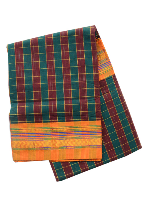 Ilkal Checks saree