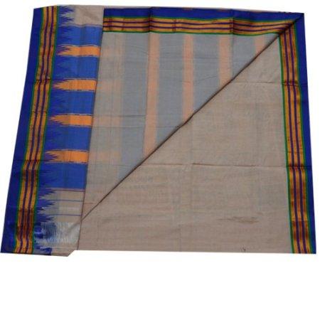 Ilkal Silk by Cotton Plain temple Border Saree
