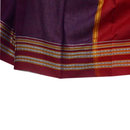 Ilkal Pure Cotton Plain Saree