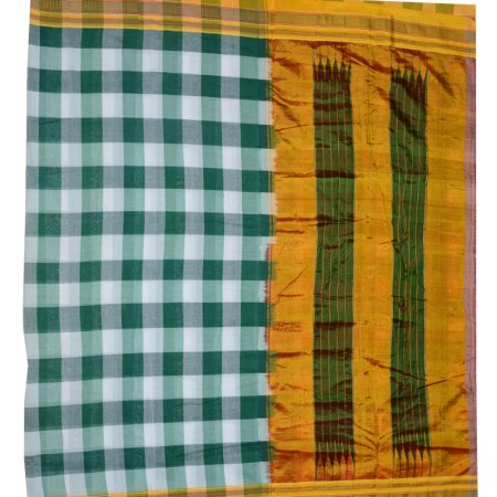 Ilkal Silk by Cotton Big Checks Sarees
