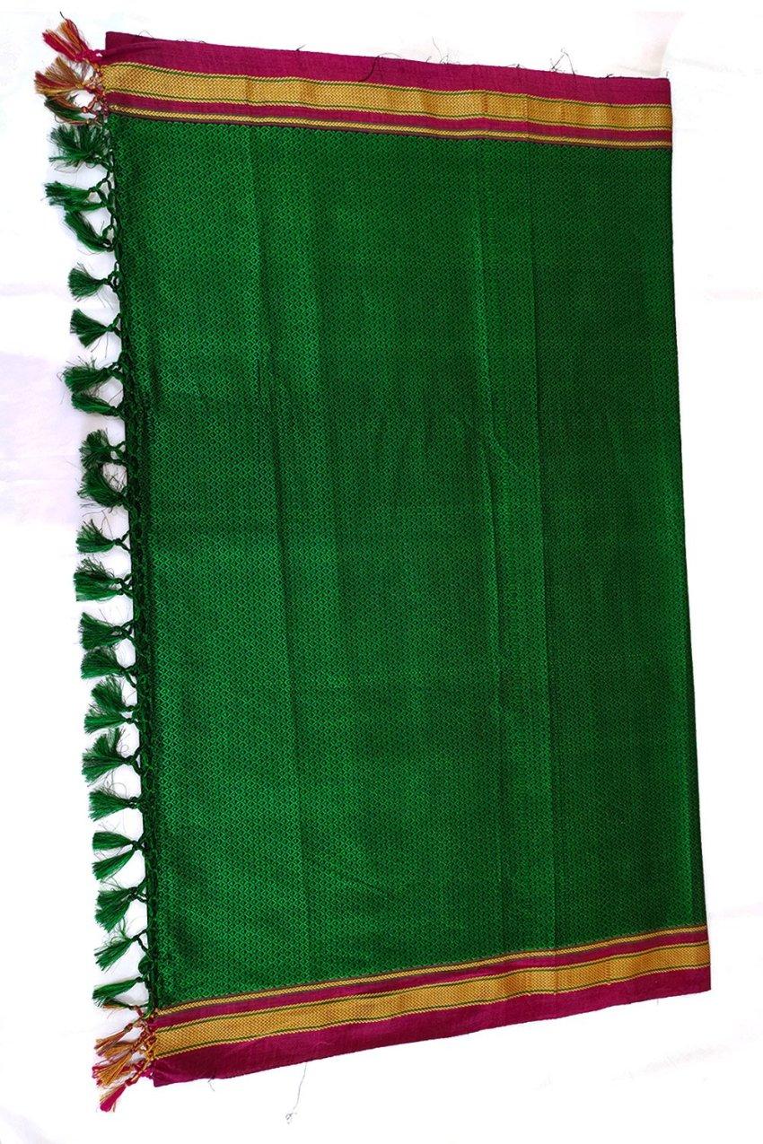 Guledgudda Khana Cotton Silk Fabrics Duppatta With Tassels
