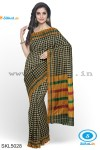 ILKAL COTTON SMALL CHECKS SAREE WITH GOMI BORDER
