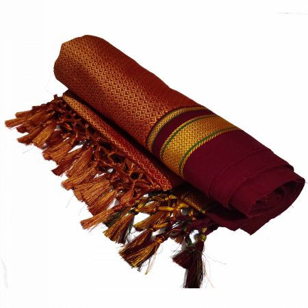 GULEDGUDDA KHANA COTTON DUPPATTA WITH TASSELS