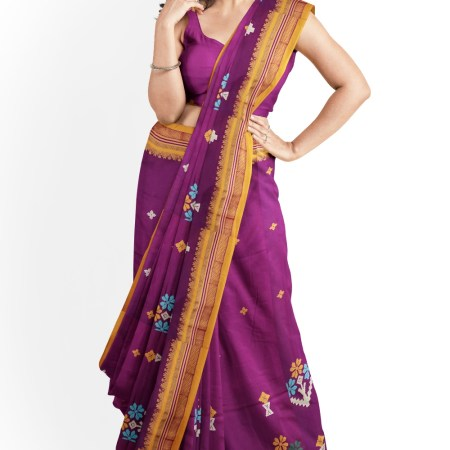 ILKAL SILK SAREE WITH KASUTI WORK