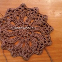 Pinwheel crochet motive - free crochet tutorial