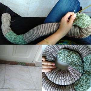 knitted drought stopper