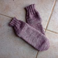 Lilac socks - toe up knitted socks