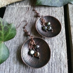 silk-creek-metalworks-gallery-copper-earrings-texture-circle-freshwater-pearls