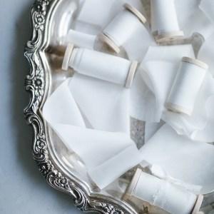 Seidenband weiß