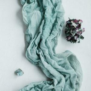 Tischläufer Baumwolle Gaze Grün