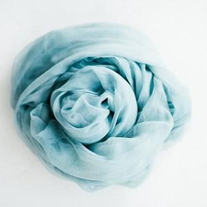 Tischläufer Chiffon Blau