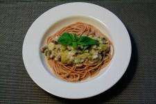 Creamy Leek and Mushroom Spaghetti