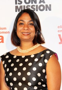 Sameera Hafiz, Advocacy Director NDWA at the YWCA USA Women of Distinction Awards Gala 2017