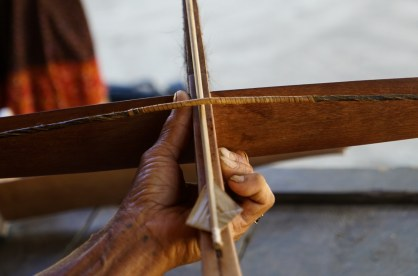 the arrow is made from bamboo