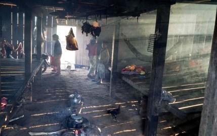 A house of a shaman, all smokes