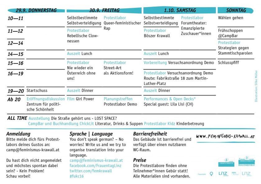 Timetable F.u.k. Camp 2016
