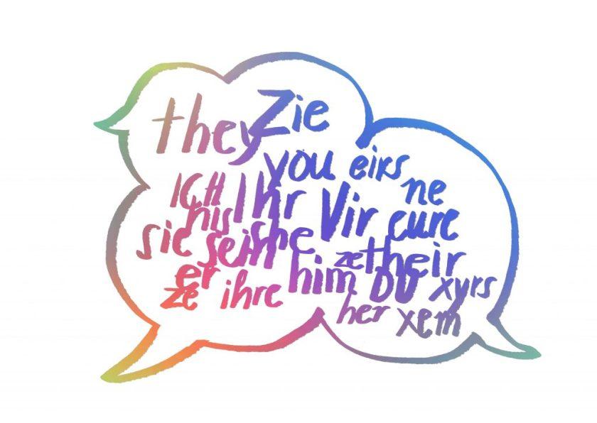 genderneutral pronouns, Genderneutrale Pronomen, Illustration: Silke Müller