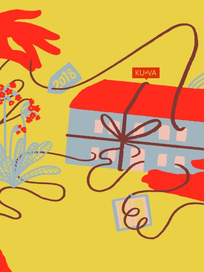 Kalender Cover - KUVA, Illustration Silke Müller, Linz