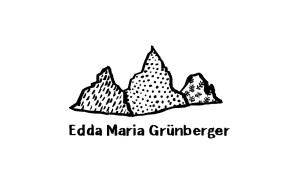 Visitenkarte Edda Grünberger | Illustration und Lettern Silke Müller