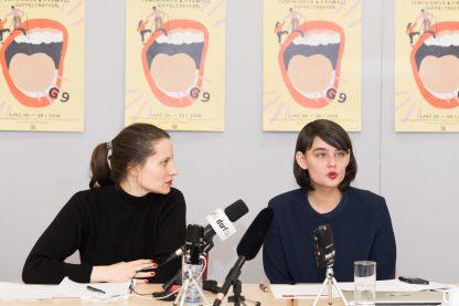 Pressekonferenz von #frauenlandretten | ©Jürgen Grünwald