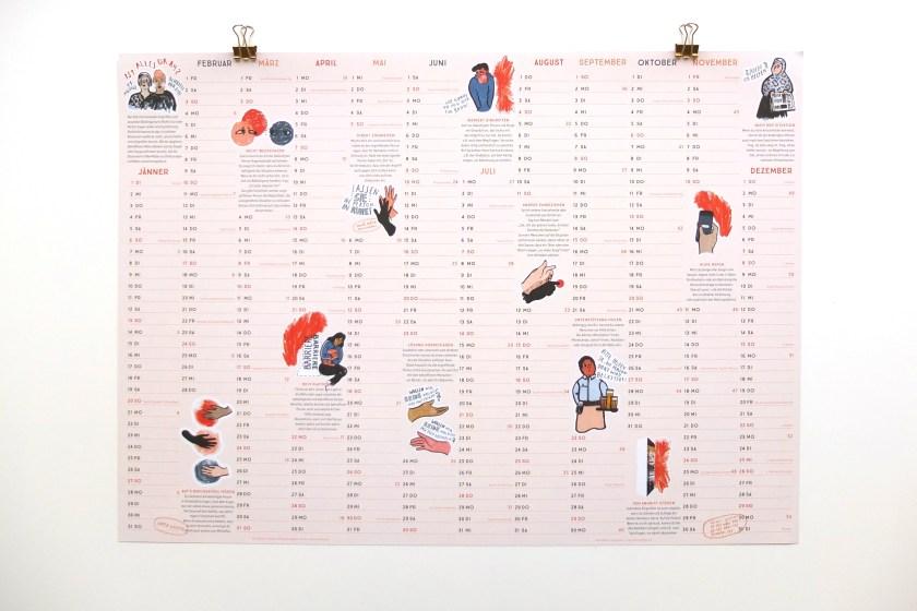 Alles Okay? - Kalender über Zivilcourage 2019, Comic · Illustration © Silke Müller, Linz