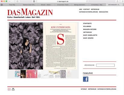 screenshot Das Magazin online