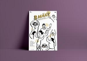 Plakat für Weltfrauentag 2019 in Linz | Illustration © Silke Müller