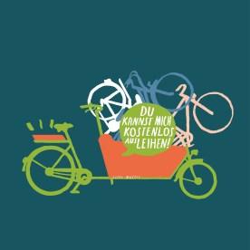 Lastenräder kann man bei der Stadt ausleihen