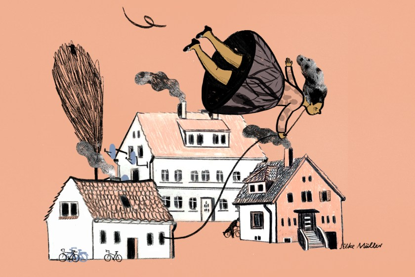 Kinderbuchillustration, Suchbild, Herbst, Boulevardzeitung Augustin, Illustration: Silke Müller