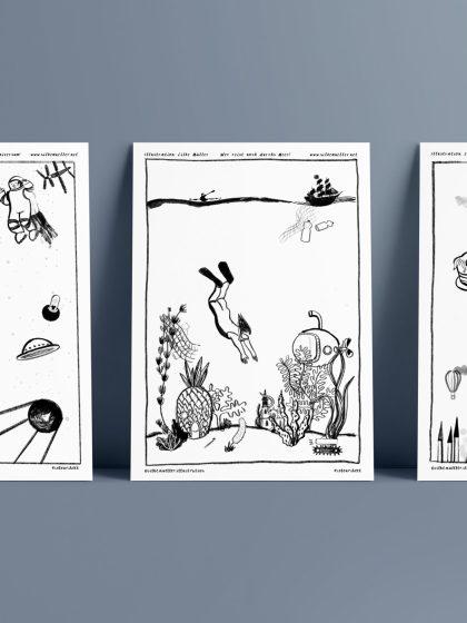 Ausmalbild, coloring page, illustratorsagainstcovid19, Illustration: Silke Mueller