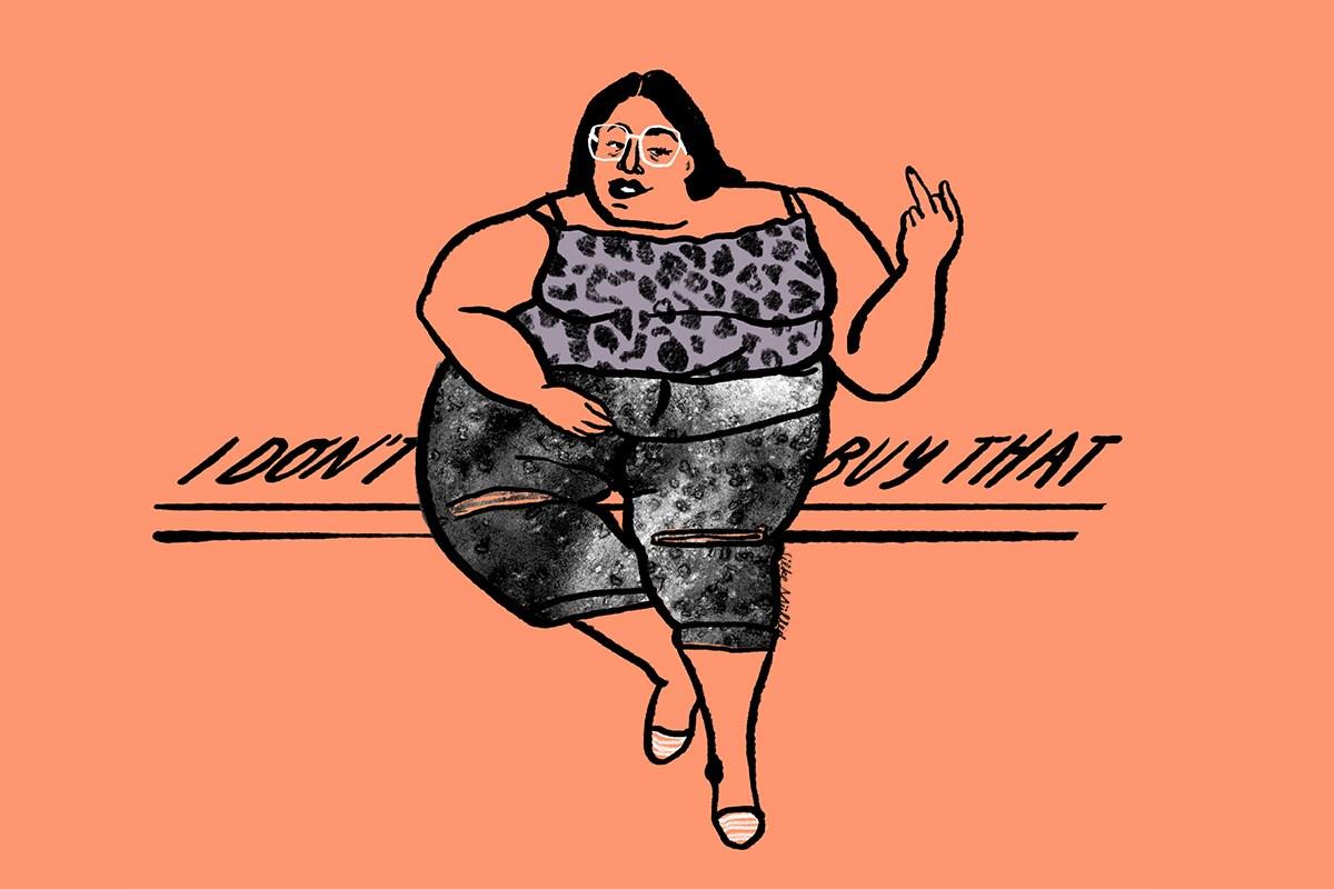 Bodyneutrality| Illustration: Silke Müller | Anschläge Magazin