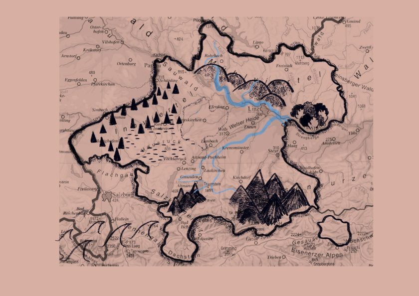 Landkartenillustration von Silke Müller