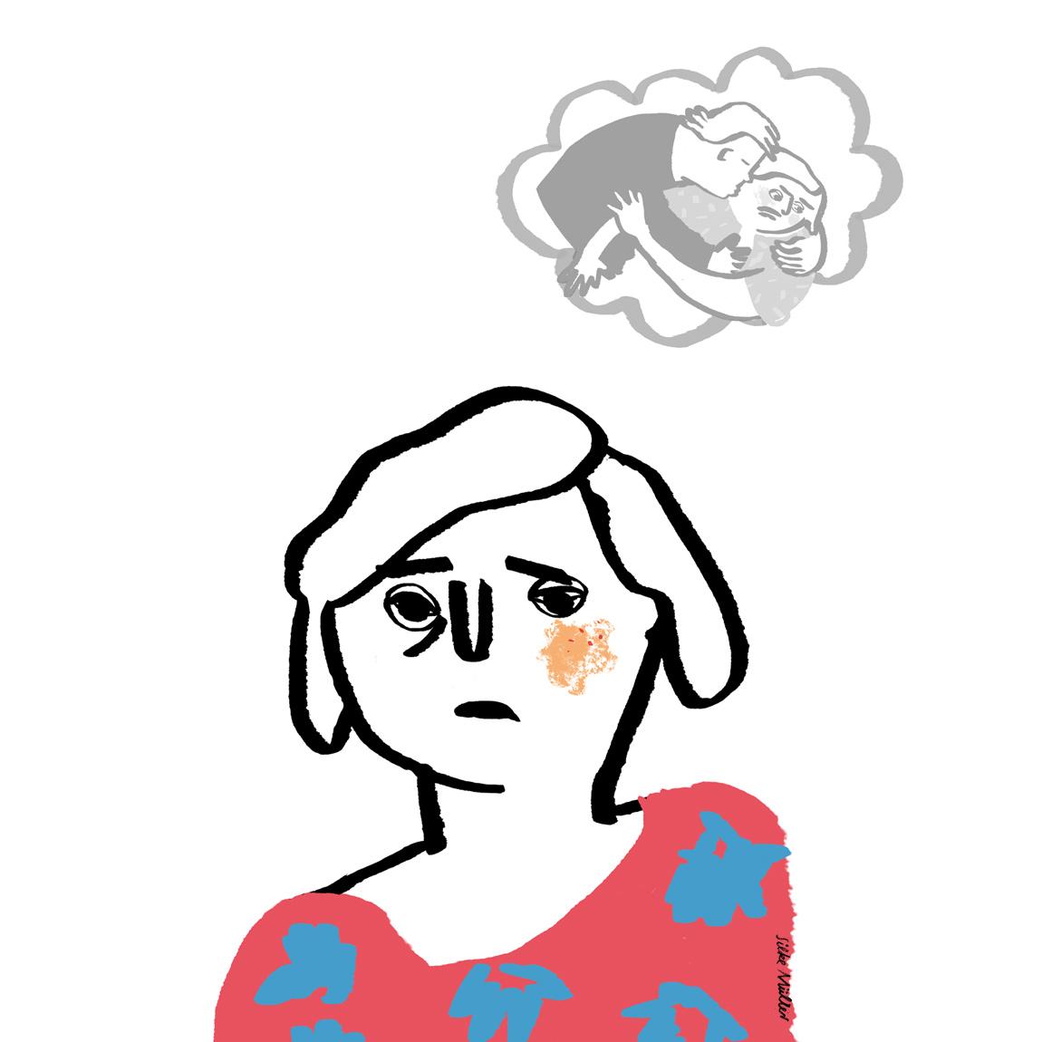 Maria denkt immer wieder an den Übergriff.