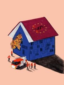 Ist die europäische Demokratie noch zu retten?   Illustration Silke Müller   Institut für den Donauraum und Mitteleuropa (IDM)