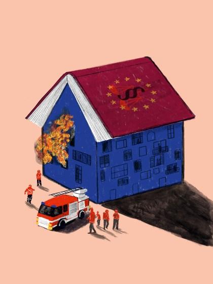 Ist die europäische Demokratie noch zu retten? | Illustration Silke Müller | Institut für den Donauraum und Mitteleuropa (IDM)