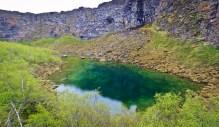 Lake Botnstjorn in Asbyrgi Canyon