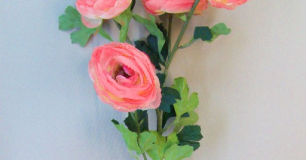 Large Artificial Ranunculus Flowers Coral Pink Artificial Flowers