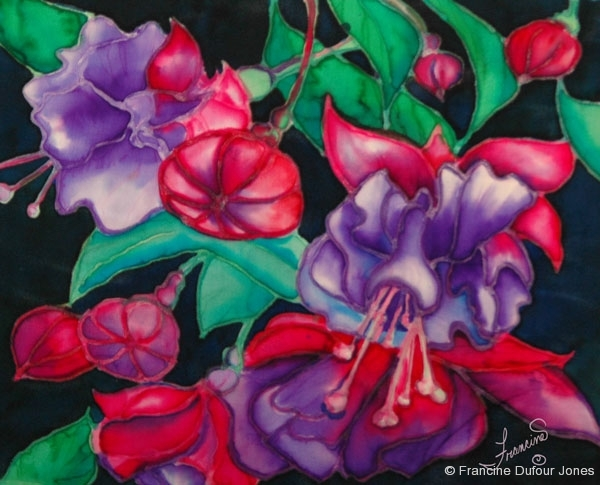 Flowers  Silk Painting Gallery