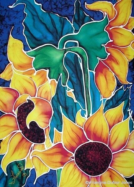 Flowers  Silk Painting Gallery