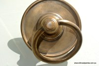 4 large round handle ring pull solid brass heavy old ...