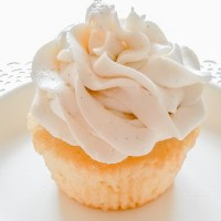 Vanilla Cupcakes and Whipped Vanilla Bean Buttercream Frosting