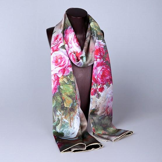 Long Silk Scarf-Digital Silk Scarf-Silk Scarf China-ALL01