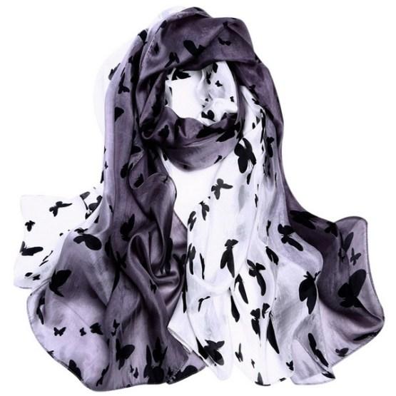 Silk Scarf -Infinity scarf -Butterfly-SPAJ01A