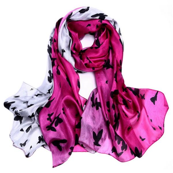 Silk Scarf -Infinity scarf -Butterfly-SPAJ01B