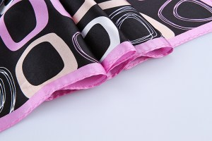 Square Silk Scarf-55CM Silk Scarf-Silk Scarf China- HHS011D4