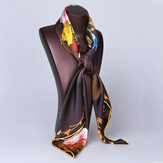 Square Silk Scarf-Silk Scarf-Digital Silk Scarf-100AA020,