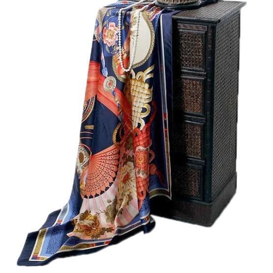 110cm Silk Scarf-Square Silk Scarf-Wholesale Scarfs-HA0011B2